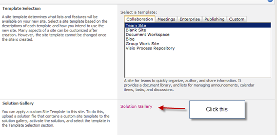 Sharepoint 2010 saving a custom list as a template list gallery.