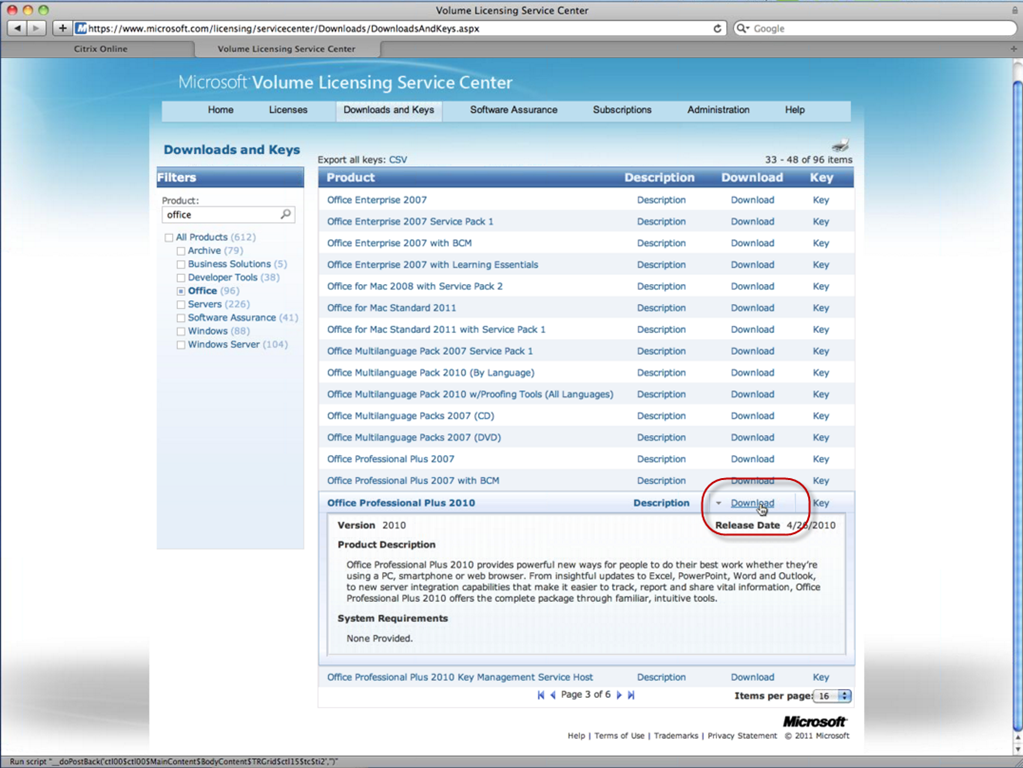 Downloading the Office Web Apps for SharePoint 2010 - Todd