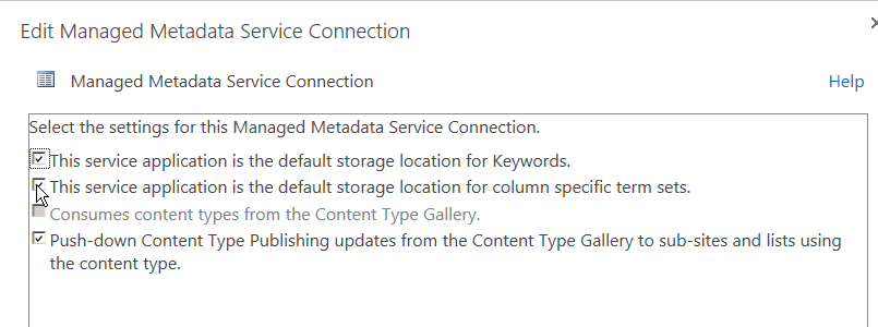 configuring the sharepoint 2013 managed metadata service for
