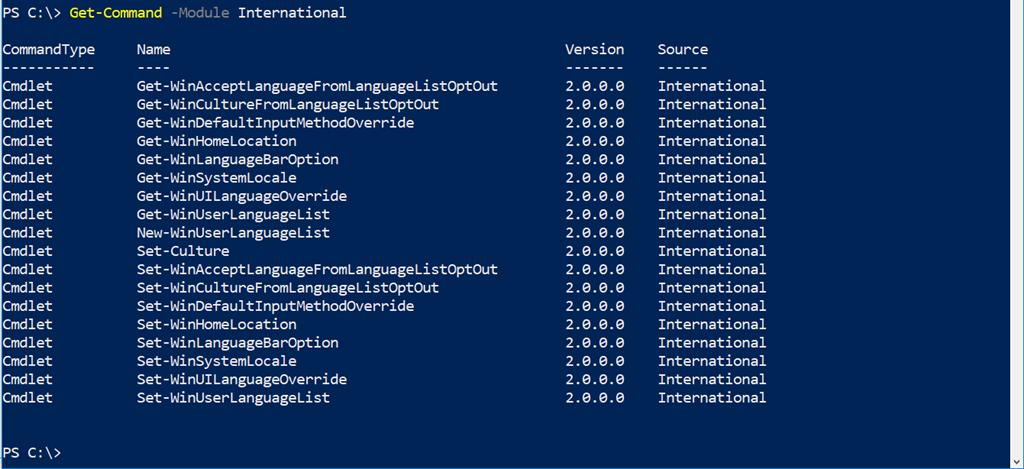 Changing Windows 10's Language to English with PowerShell